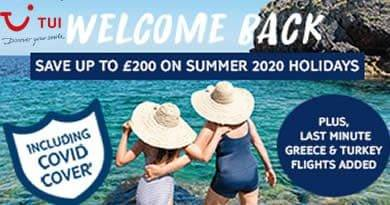TUI Summer code to get up to £200 off next holiday